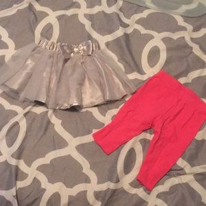 Other - Girls leggings and skirt 0-3 months